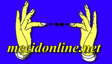 mccidonline.net logo with the hand sign contact